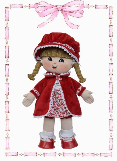 muñeca de trapo luisita abrigo