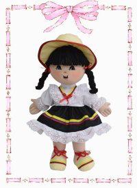muñeca de trapo colombianita dayana n2