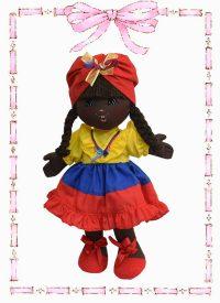 muñeca de trapo dayana tricolor