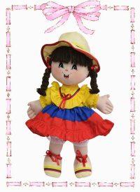 muñeca de trapo yulis colombianita