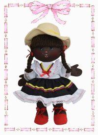 muñeca de trapo colombianita minina