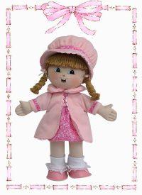 muñeca de trapo dayana abrigo
