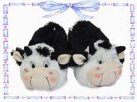 babuchas de vaca blanco y negro talla 34