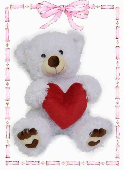 muneco de felpa oso huellas corazon n0