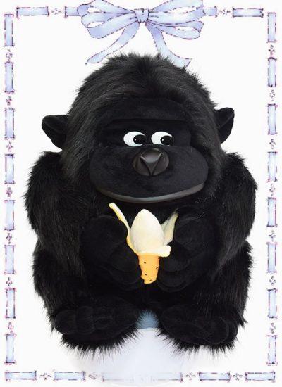 muñeco en felpa gorila banana n1